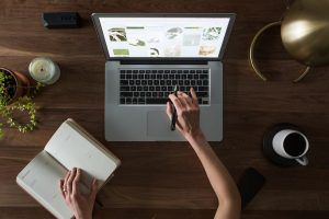 coffee laptop desk
