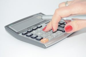 calculator, hand